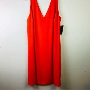 RALPH LAUREN orange dress, Double V-neck, 18W